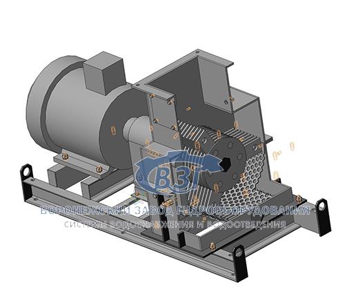 Дробилка канализационных отходов конструктивная схема молотковая дробилка
